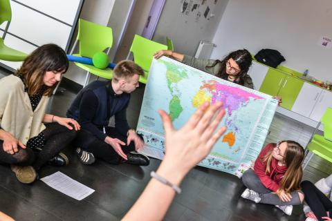Asistentes al I Encuentro Europeo de Consejos de Infancia y Adolescencia. @UNICEF Comité Español/2018/PensarConsulting