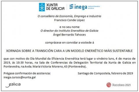 invitación xornada modelo enerxético sustentable