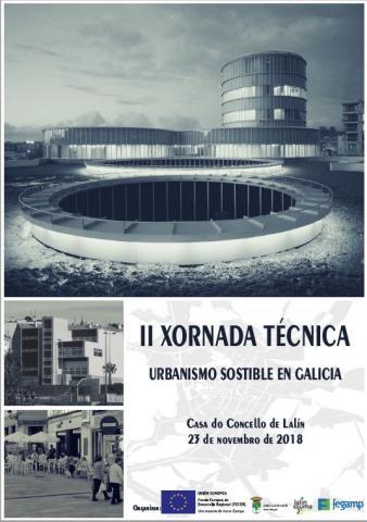 Cartel da II Xornada técnica Urbanismo Sostible en Galicia
