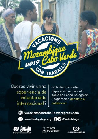 Cartel vacacións con traballo 2019 - FGCS