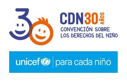 Logo 30 aniversario convención dereitos do neno