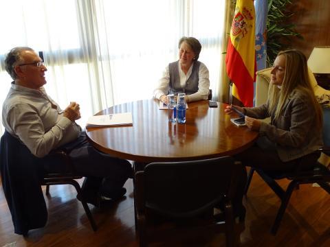 Alfredo García, presidente da Fegamp e Mª Carmen Martínez, DX de Patrimonio Cultural