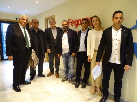 Reunión entre o presidente da Fegamp e os representantes da comunidade islámica galega