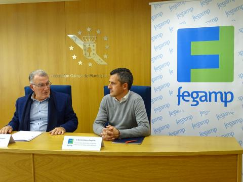 Benito Blanco (LIR) e Alfredo García (Presidente da Fegamp)