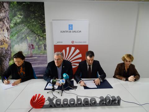 Firma protocolo entre Fegamp e Turismo de Galicia