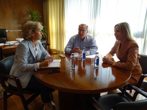 reunión presidente da Fegamp coas dx de memoria histórica e administración local