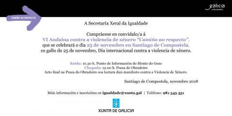 Invitación Andaina contra a violencia de xénero